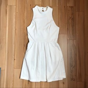 Urban Outfitters White Floral Embossed Dress